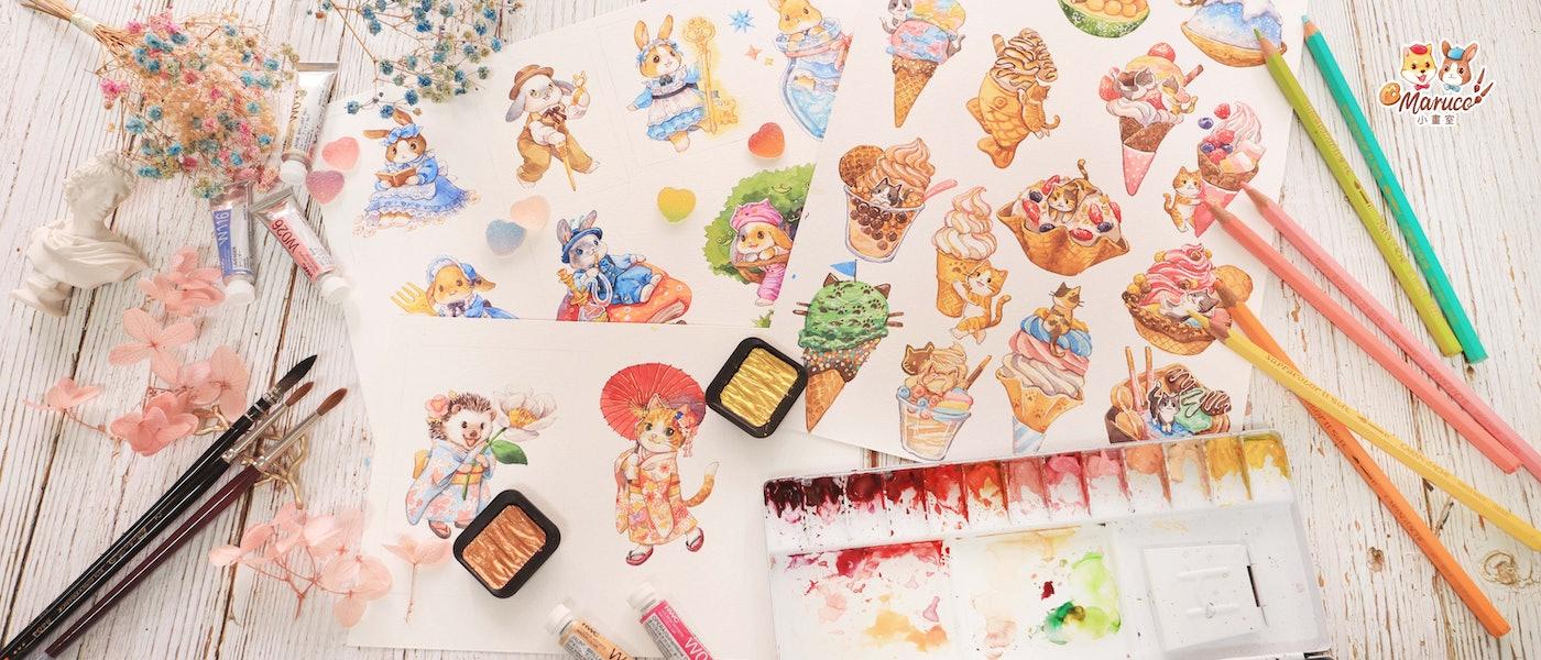 全職插畫家推薦7款繪製精緻水彩插畫愛用好物