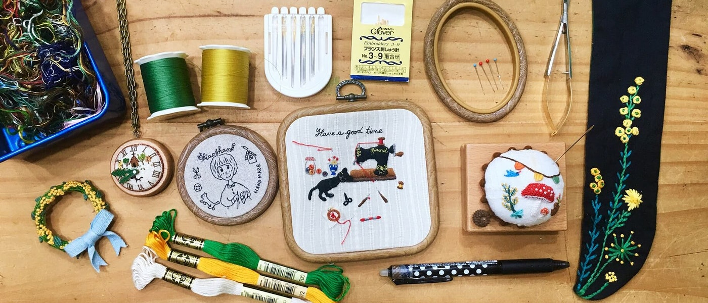 布作家推薦10款愛用的刺繡素材和工具