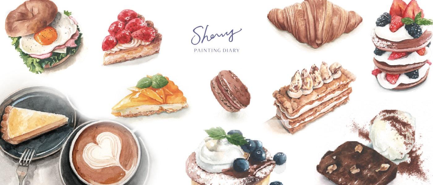 圖文創作家推薦8款手繪精緻食物愛用畫具