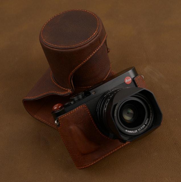 全罩式牛皮相機皮套 1