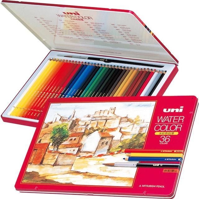 uni三菱 水彩色鉛筆 1