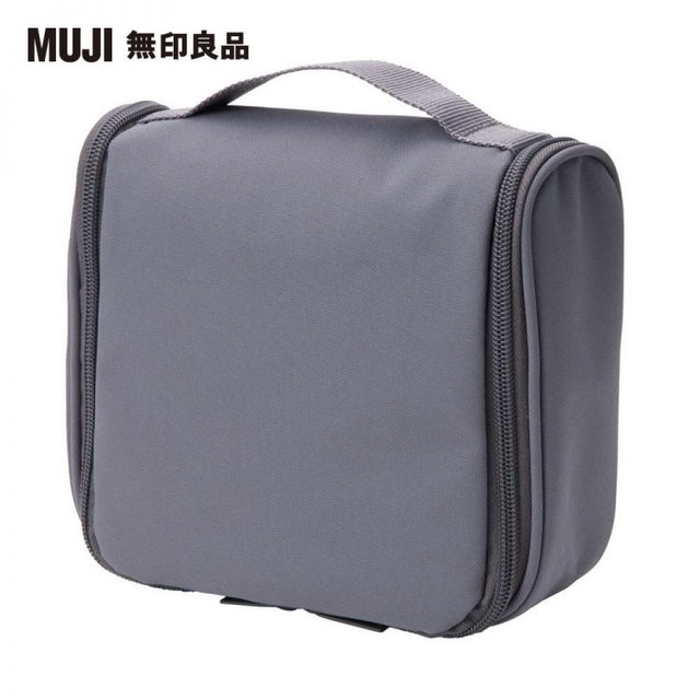 MUJI無印良品 聚酯纖維吊掛盒型收納包 1