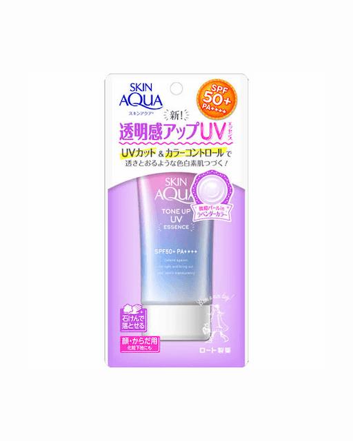 ROHTO樂敦製藥 Skin Aqua薰衣草防曬飾底乳/80g 1