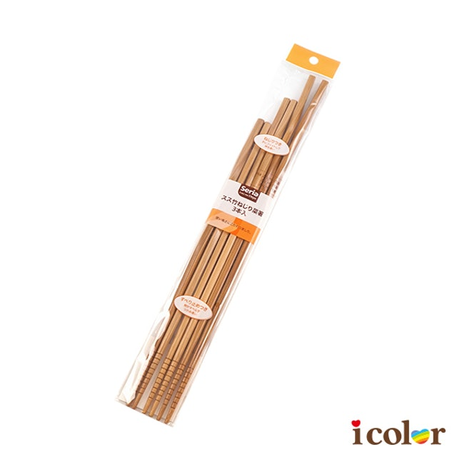 icolor 螺旋廚房料理竹筷/3入 1