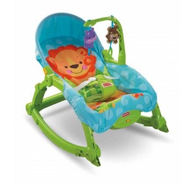 Fisher- Price費雪 可愛動物可攜式兩用安撫躺椅 1
