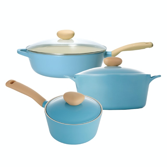 NEOFLAM Retro 藍色水晶鍋具組 1