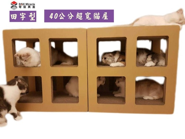 Box Miracle奇裝異盒 田型貓抓屋 1