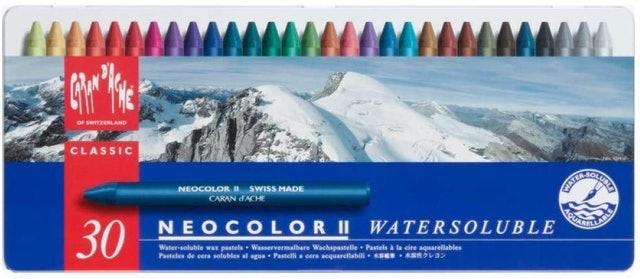 CARAN d`ACHE  NEOCOLOR II 30色專業水溶性蠟筆 1