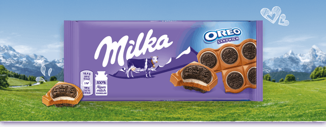 Milka  OREO 風味巧克力 1