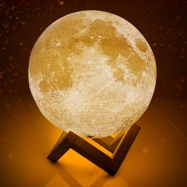 3D月球造型LED夜燈 1