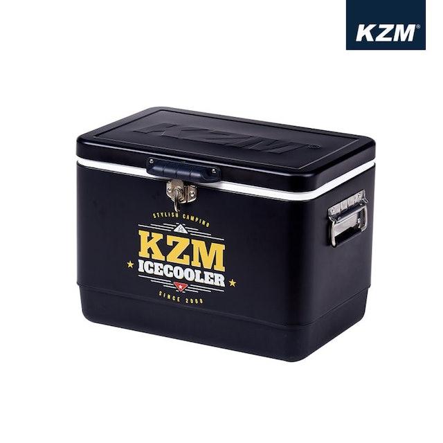 KZM  黑爵士不鏽鋼行動冰箱29L 1