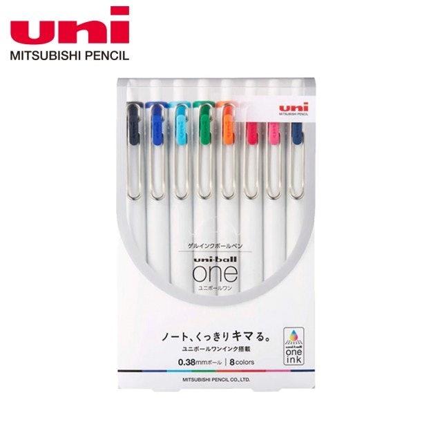uni三菱  UNI-BALL ONE鋼珠筆 8色套組  1