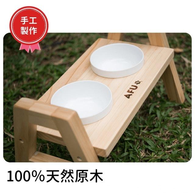 AFU寵物世界 二口原木餐桌 1