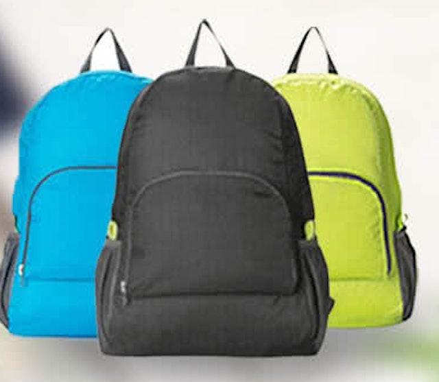 韓風旅行折疊雙肩後背包 1