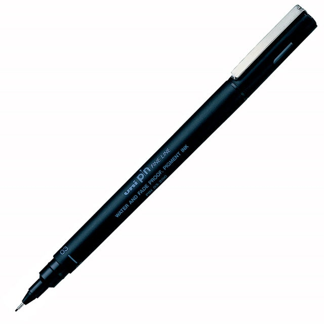 uni三菱 代用針筆0.3 黑 1