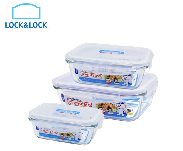 LOCK&LOCK樂扣樂扣 第三代耐熱玻璃保鮮盒 1