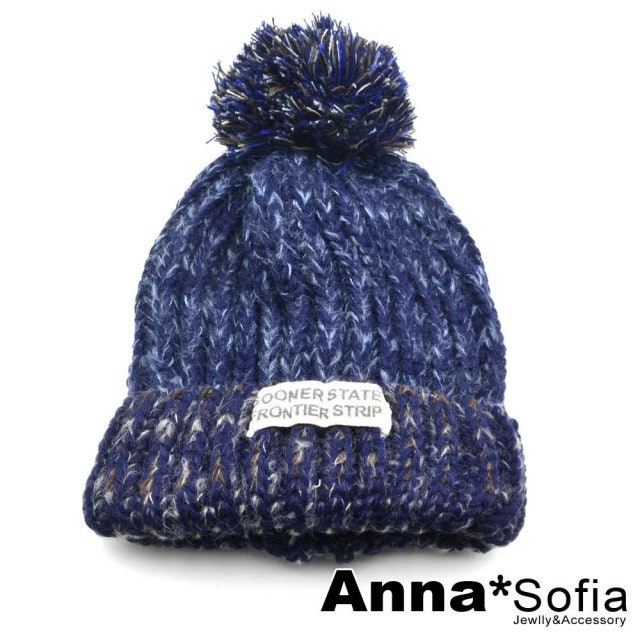 AnnaSofia 大球保暖毛線毛帽 1