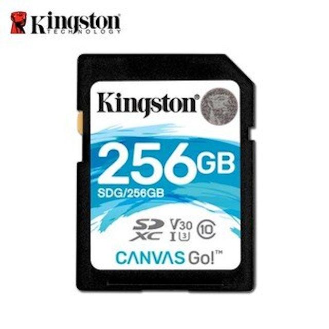 Kingston金士頓  Canvas GO! Plus UHS-I 256GB 記憶卡 1