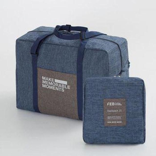 JIDA 復古大容量可摺疊拉桿收納旅行袋 1