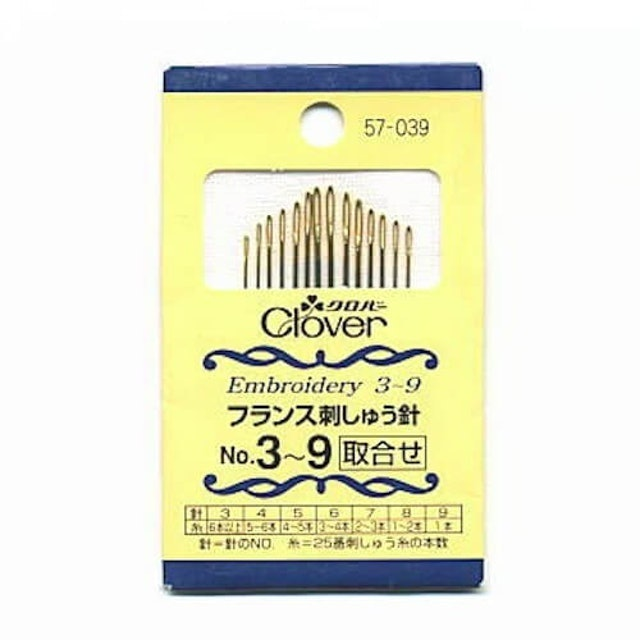Clover可樂牌 法國刺繡針 No.3~9 1