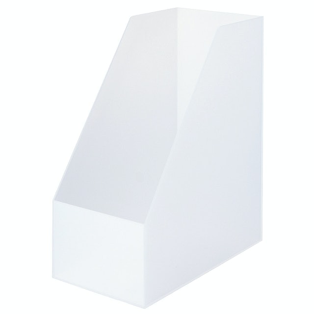 MUJI無印良品 聚丙烯立式斜口寬檔案盒 1