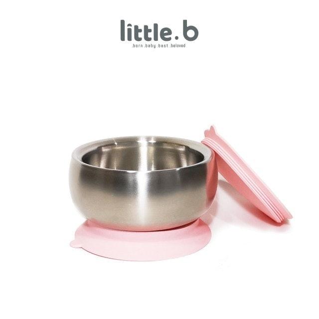 little.b 316雙層不鏽鋼學習吸盤碗 1