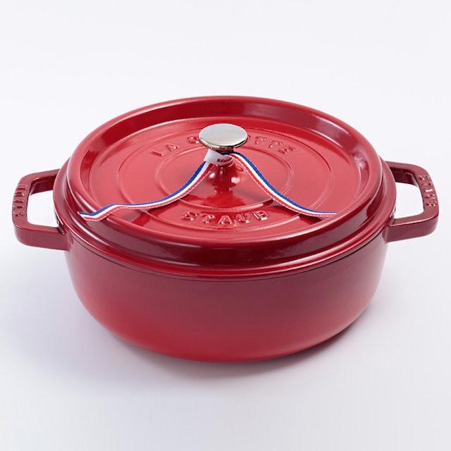 staub 淺底圓形琺瑯鑄鐵鍋 26cm 1