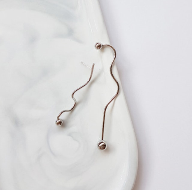 silver wave earrings 1