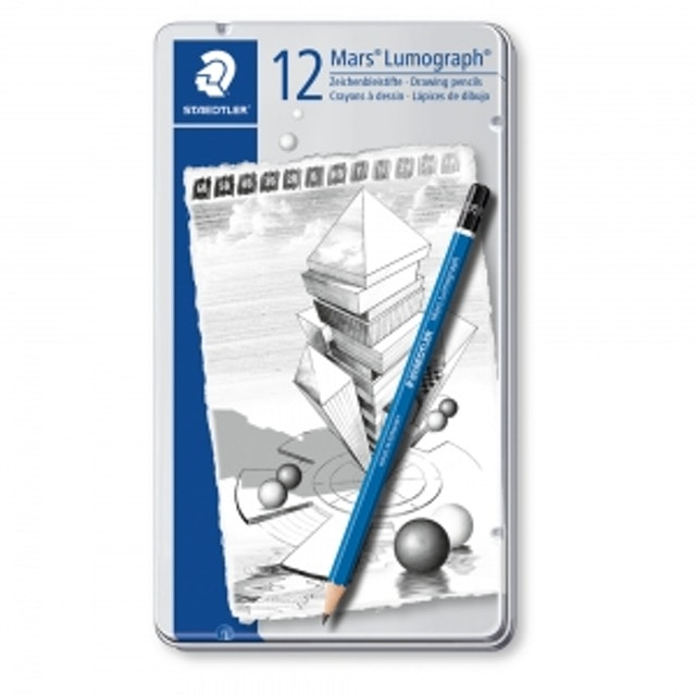 STAEDTLER 12枝組藍桿素描鉛筆 1