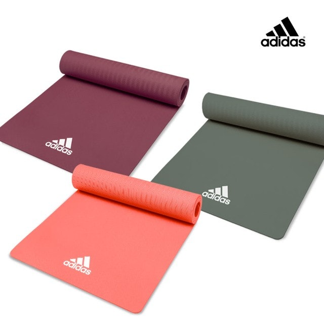 adidas愛迪達  8mm 輕量波紋瑜珈墊  1