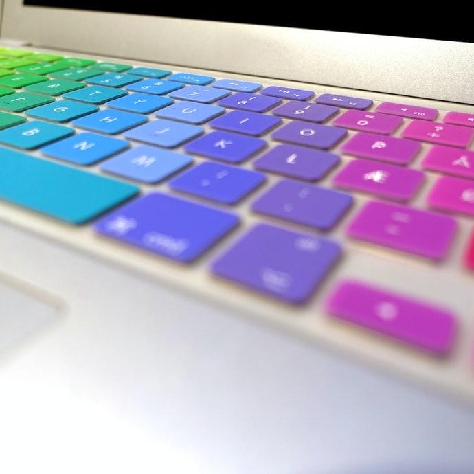 從鍵盤膜的配色挑選
