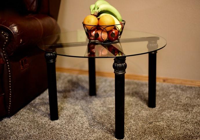 玻璃桌面:充滿洗鍊的時尚感