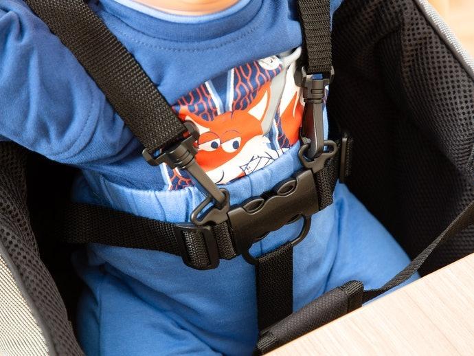 坐姿不穩、吃飯好動的嬰幼兒請務必鎖定有附加「安全帶」的款式