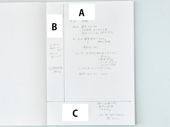 方格筆記本的活用方式
