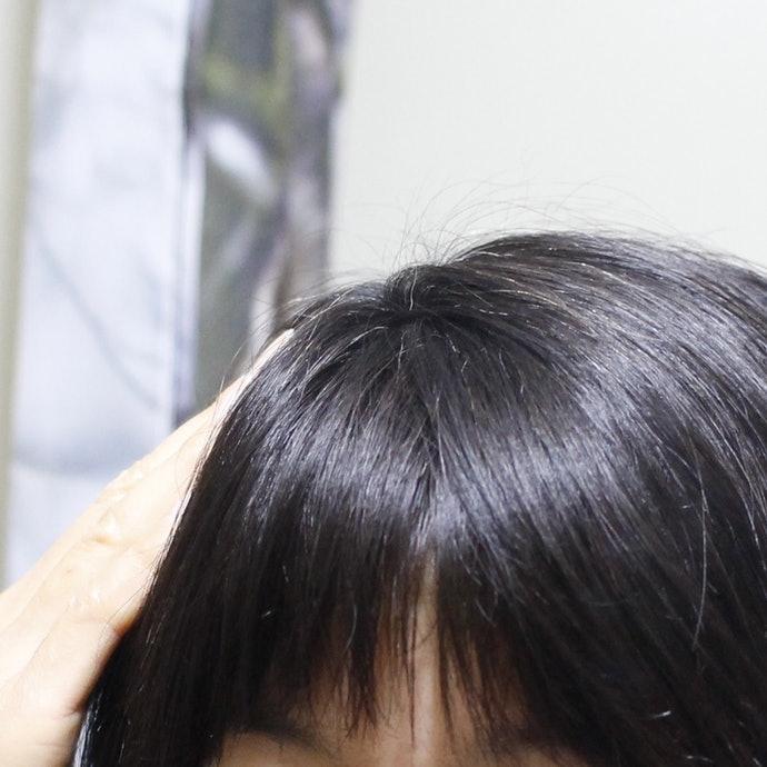 髮色變化有待觀察,頭頂髮量有變澎傾向