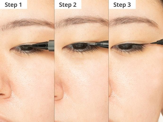 眼線液:以小單位連接拉出好看的長線