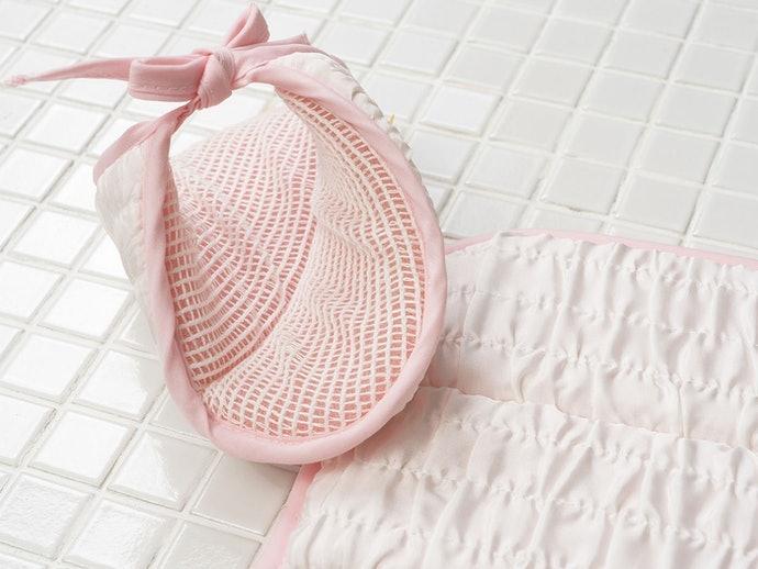 絲質:觸感平滑細膩,可洗去角質與髒污
