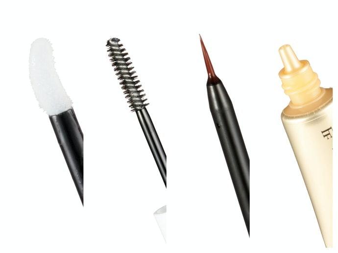 不同的塗抹方式:海綿、睫毛膏刷、細毛筆、指塗