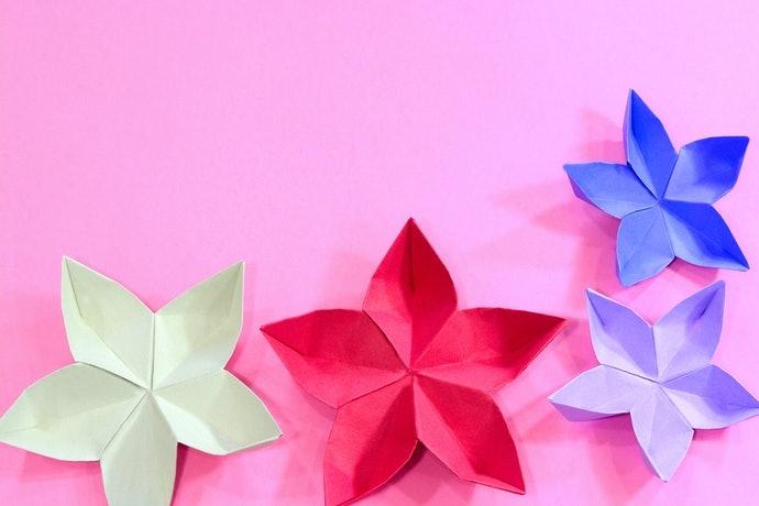 送禮也合適的摺紙花