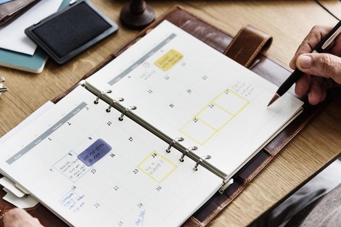 月曆型:商務及日常皆方便規劃的萬用行事曆