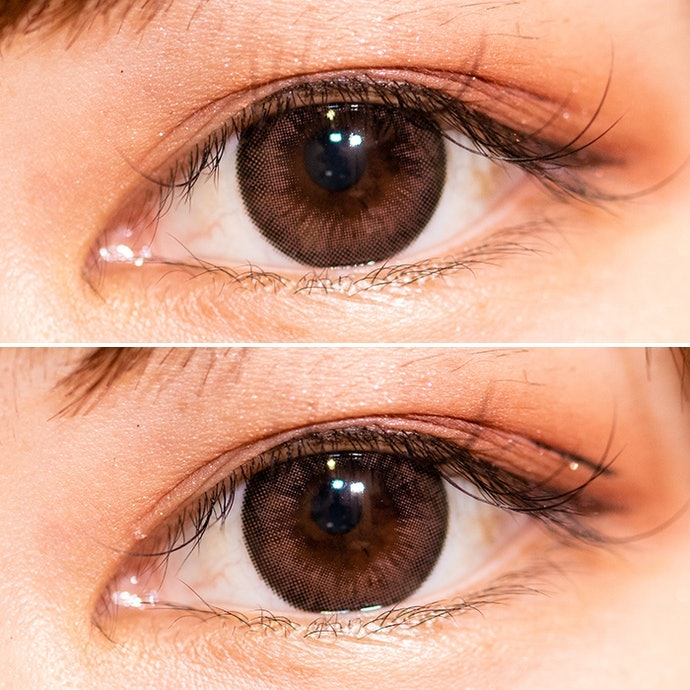 以眼皮黏膠或眼線筆修飾貼片易突出的邊角處