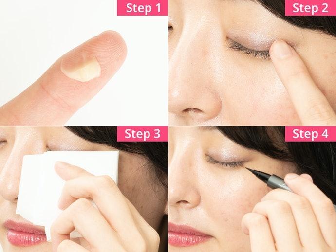 外出暈染時,可利用乳液或護唇膏來急救