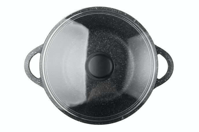 透明玻璃鍋蓋,便於觀察炊煮狀況