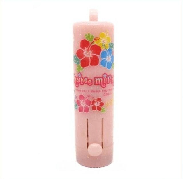 san-x 粉紅色扶桑花直立式印章盒 1