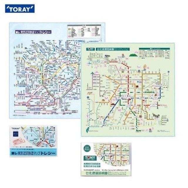 TORAY東麗 台北+東京捷運路網圖拭淨布 1