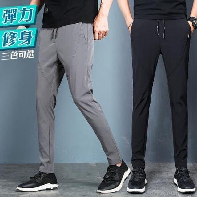NEW POWER 彈力修身型男抽繩休閒長褲 1