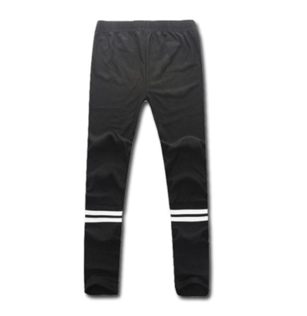 OBI YUAN 韓版膝下雙條紋短褲內搭彈力休閒褲 1