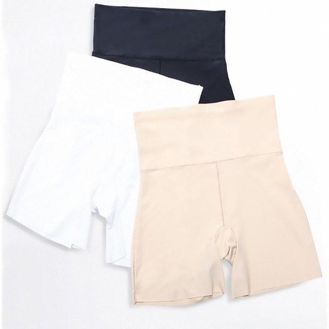 EZlife 日系收腹高腰冰絲安全褲 1