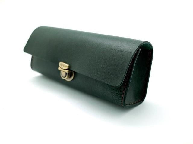 手縫植鞣革大容量筆盒/筆袋 1
