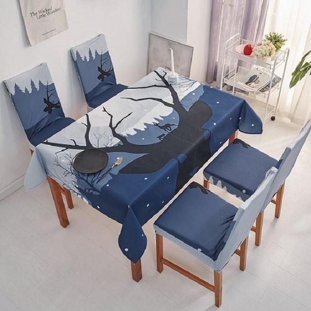 北歐風簡約餐桌布 1